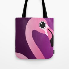 Cute Flamingo Portrait Tote Bag