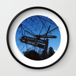 Street Signs in Black Creek Pioneer Village - Toronto, ON, Canada Wall Clock