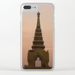 Golden hour at Golden Mount Clear iPhone Case