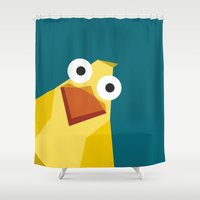 duck Shower Curtains featuring Duck by Fairytale ink