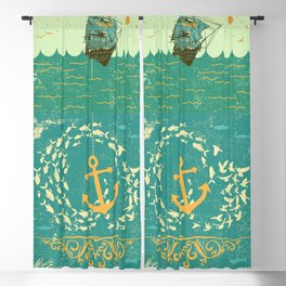 GOLDEN ANCHOR Blackout Curtain