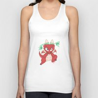 magic the gathering Tank Tops featuring Chibi Red Dragon Magic the Gathering Token by Deadlance