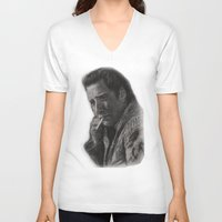 nicolas cage V-neck T-shirts featuring WILD AT HEART - NICOLAS CAGE by William Wong