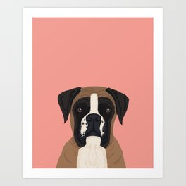 Boxer dog art print cute dog breed customizable pet portrait animal man's best friend dog person  Art Print
