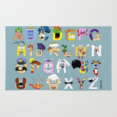 Breakfast Mascot Alphabet Rug