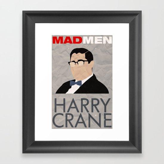 Mad Men - Harry Crane Framed Art Print
