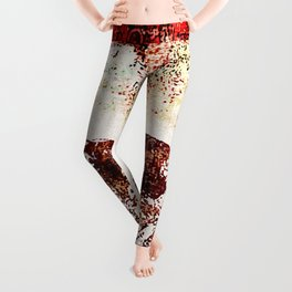 Vintage Heart Abstract Design Leggings