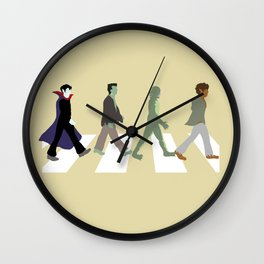 Abbey Road Monsters Wall Clock