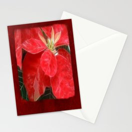 Mottled Red Poinsettia 1 Ephemeral Blank P5F0 Stationery Cards