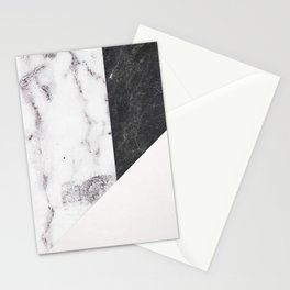 Chic Geometric Marble Collage Stationery Cards