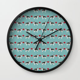 Alaskan malamute hearts dog breed pet lover malamute gifts Wall Clock