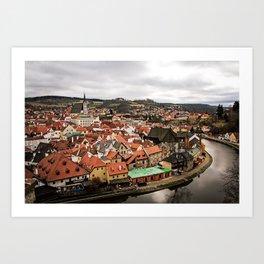 Cesky Krumlov Views Art Print