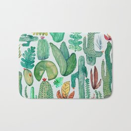 Watercolor Nature Bath Mat
