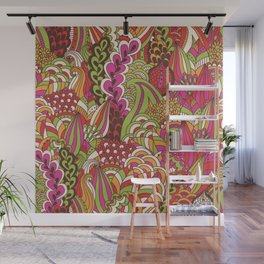 Paisly Pop Tangle #4 Wall Mural