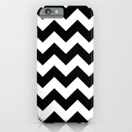 BLACK AND WHITE CHEVRON PATTERN - THICK LINED ZIG ZAG iPhone Case