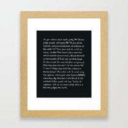 Psalm 58 Framed Art Print