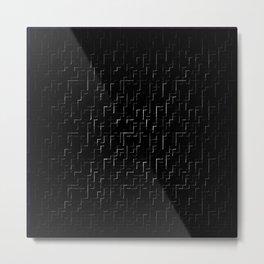 Black and white lines 3 Metal Print