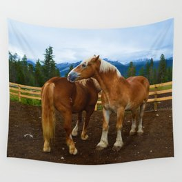 Horses in Jasper National Park, Canada Wall Tapestry