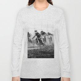 Motocross black white Long Sleeve T-shirt