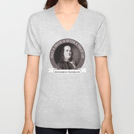Benjamin Franklin the Whole Truth Unisex V-Neck