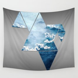 Fragmented Clouds Wall Tapestry