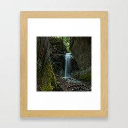Beautiful Small Waterfall Framed Art Print