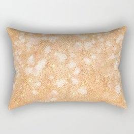 Blush pink rose gold glitter floral Rectangular Pillow