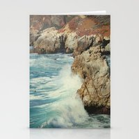 big sur Stationery Cards featuring Big Sur - Embrace me by Jenndalyn