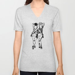 Two Flapper Girls Unisex V-Neck