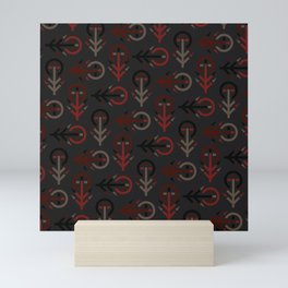 Blood Tree Maze - Industrial Version - Runic Tree Inspired Pattern Mini Art Print