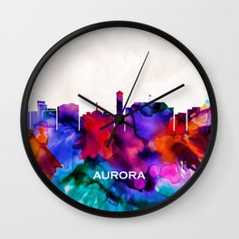Aurora Skyline Wall Clock