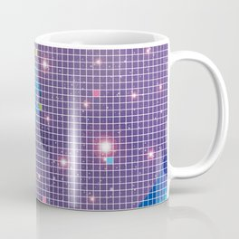 Great Wave in checked pattern_I Coffee Mug