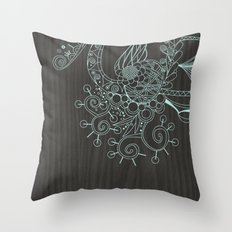 Tangle on dark wood Throw Pillow