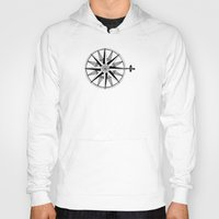 compass Hoodies featuring Compass by Addison Karl