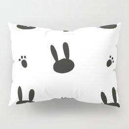 Cute bunny or rabbit and black and white easter pattern Pillow Sham