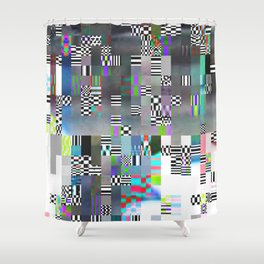 Glitch - 1 Shower Curtain