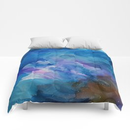 Bloom Up Abstract Comforters