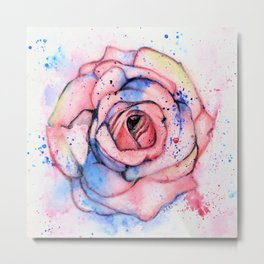 Colorful Rose Metal Print