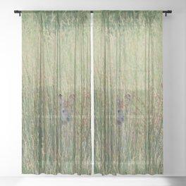 Playing hide and seek Sheer Curtain