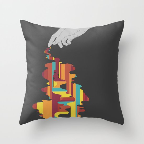 Colourbleed Throw Pillow