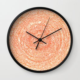 An Orange Wishes, asemic calligraphy for home and office decoration Wall Clock