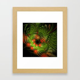 design on black -100- Framed Art Print