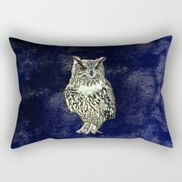 Owl has  good eye-sight, insight, and foresight, in his own words. Rectangular Pillow