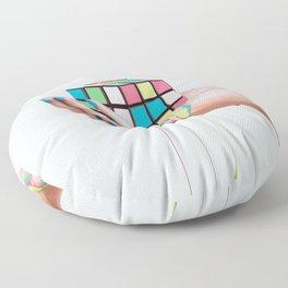 MELTING RUBIKS CUBE Floor Pillow
