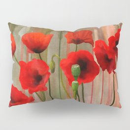 Watercolor Poppies Pillow Sham