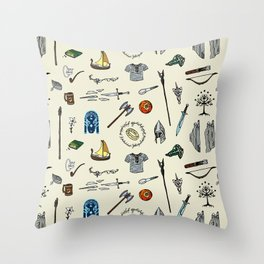 Lord of the pattern Throw Pillow