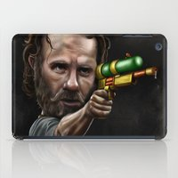rick grimes iPad Cases featuring Rick Grimes by Rob McElhaney