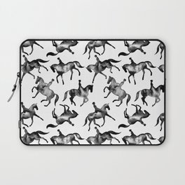 Dressage Horse Silhouettes Laptop Sleeve
