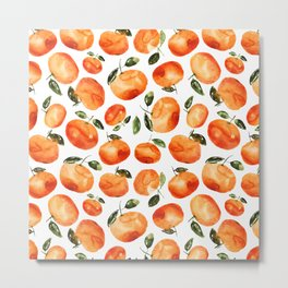 Watercolor tangerines Metal Print