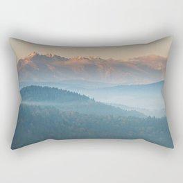 The mountains are calling #sunset Rectangular Pillow